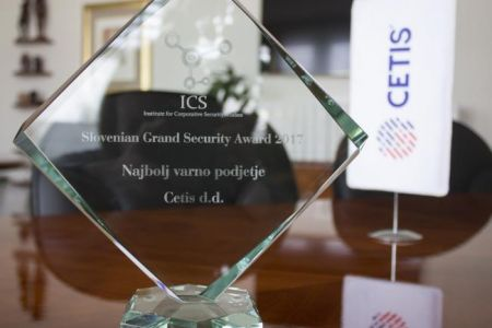 CETIS receives Slovenian Grand Security Award for 2017