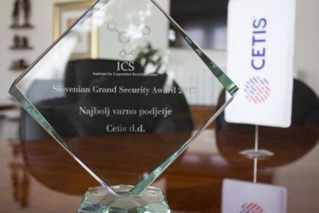 CETIS receives Slovenian Grand Security Award for 2017